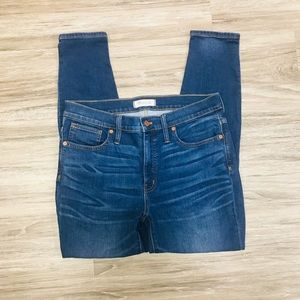 "Madewell 9"" High Riser Jeans size 30"